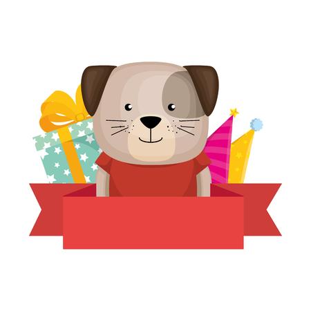 cute dog character icon vector illustration design Foto de archivo - 103394941
