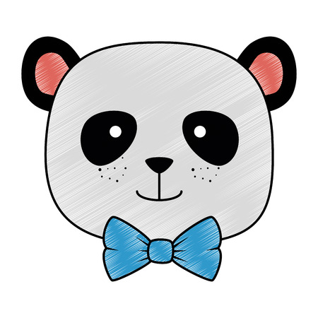 cute bear panda head character vector illustration design 스톡 콘텐츠 - 103397090