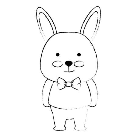 cute rabbit character icon vector illustration design 일러스트
