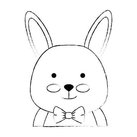 cute rabbit character icon vector illustration design Иллюстрация