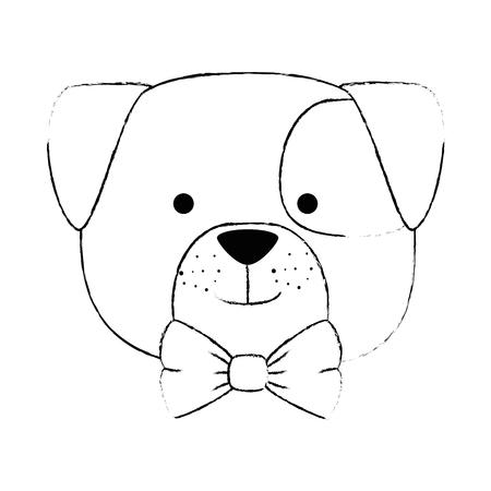 cute dog head character icon vector illustration design 일러스트
