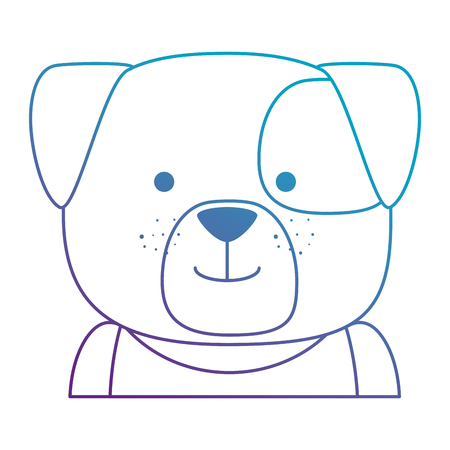 cute dog character icon vector illustration design