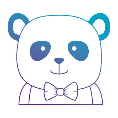 cute bear panda character vector illustration design Banque d'images - 103400982