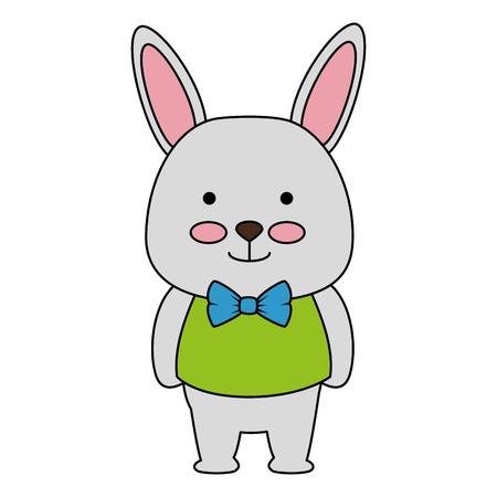cute rabbit character icon vector illustration design Illustration