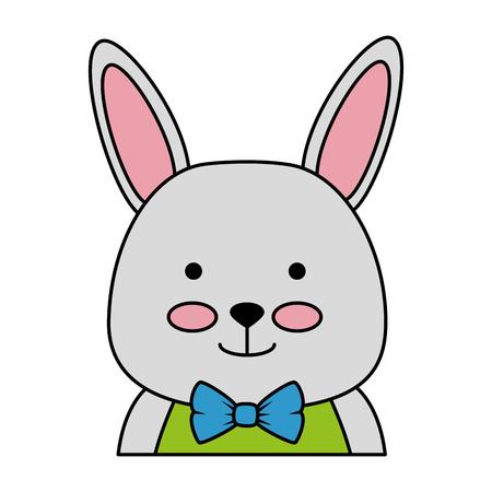 cute rabbit character icon vector illustration design Ilustração