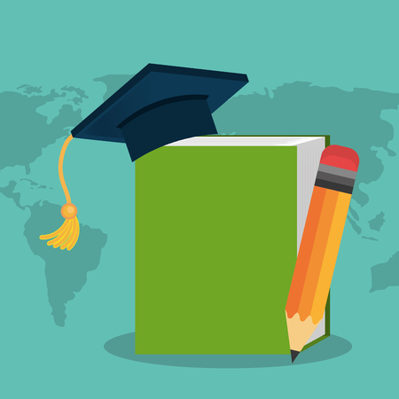 book electronic with elearning concept vector illustration design
