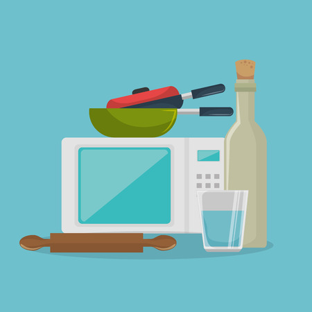 kitchen equipment set icons vector illustration design