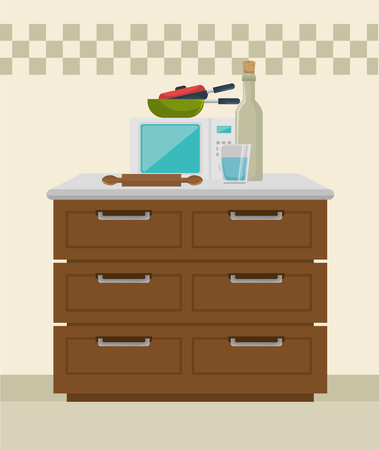 kitchen modern scene icons vector illustration design Foto de archivo - 103485838