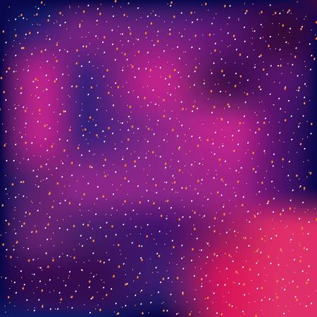 starry gradient glowing blurred background vector illustration