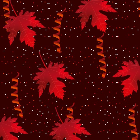 canada day dotted background red serpentines leave maple vector illustration