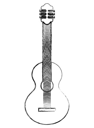 instrument musical guitar percussion image vector illustration sketch Stock Vector - 103535978