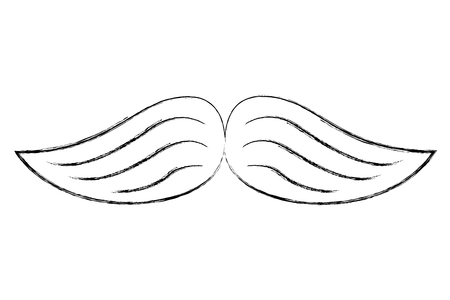 wings feathers nature decoration image vector illustration sketch
