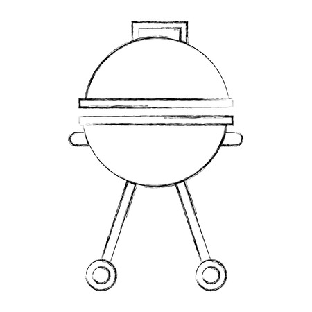 grill cooking equipment closed appliance vector illustration sketch