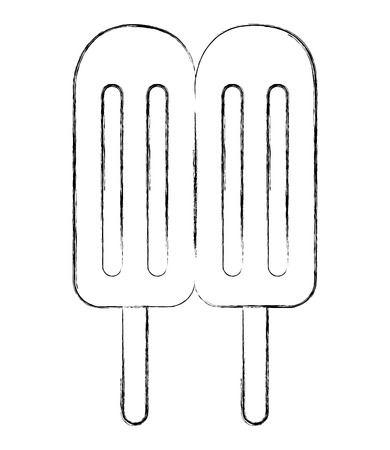 sweet popsicles ice cream image vector illustration sketch