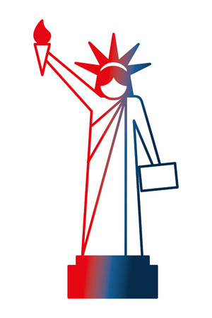 statue of liberty national american symbol vector illustration gradient design