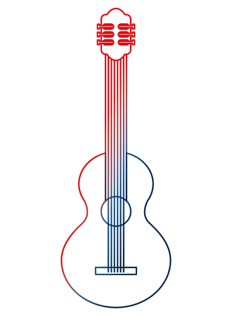 instrument musical guitar percussion image vector illustration gradient design