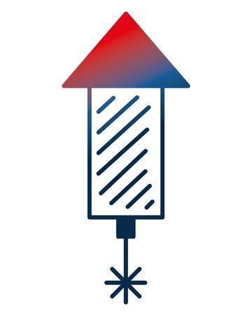 rocket fireworks celebration explosion party vector illustration gradient design