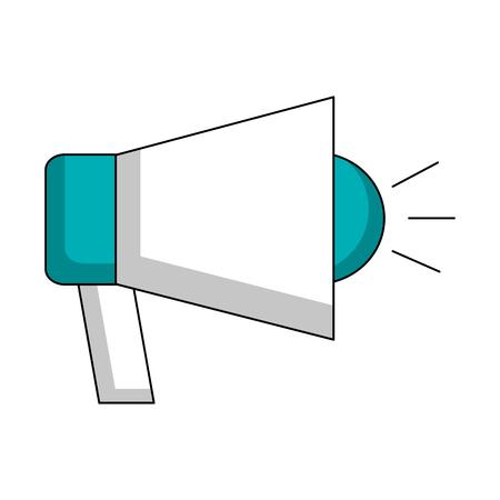 megaphone advertising voice speaker image vector illustration