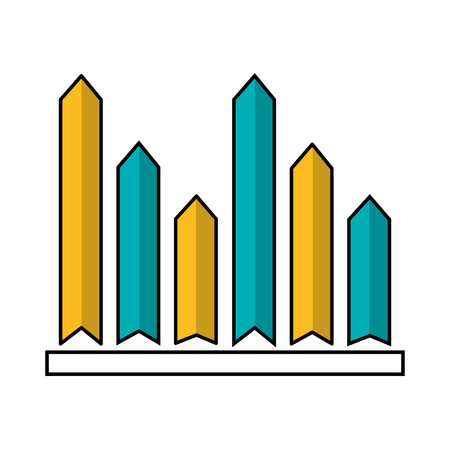 statistics diagram bar graph financial vector illustration