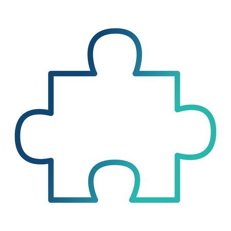 puzzle piece toy game image vector illustration neon design Ilustração