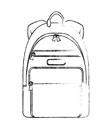 backpack accessory fashion travel icon vector illustration vector illustration sketch