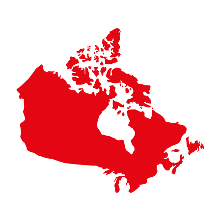 red canadian map geography country vector illustration 일러스트
