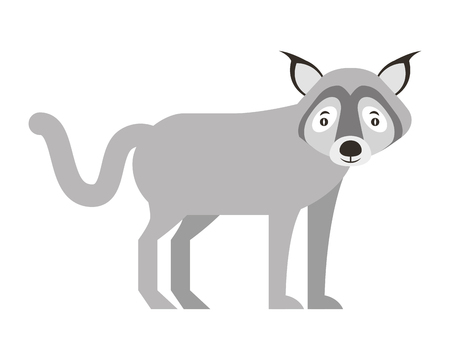 wolf beast creature animal image vector illustration  イラスト・ベクター素材