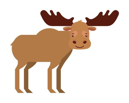 moose animal canada nature wild vector illustration 스톡 콘텐츠 - 103546429