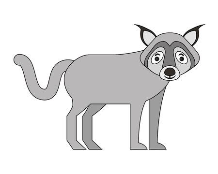 wolf beast creature animal image vector illustration Illustration
