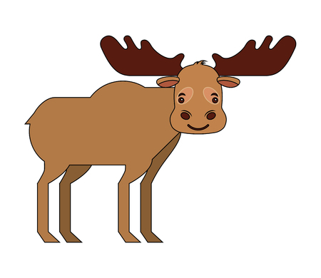 moose animal canada nature wild vector illustration