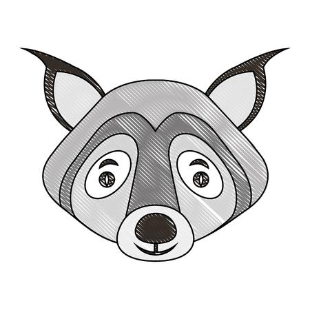 head wild wolf animal icon vector illustration design