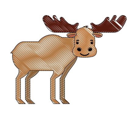 wild reindeer animal isolated icon vector illustration design