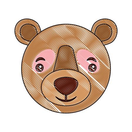head wild bear grizzly isolated icon vector illustration design Ilustração
