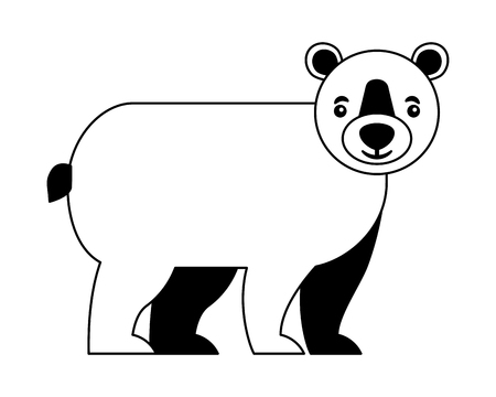 wild bear grizzly isolated icon vector illustration design