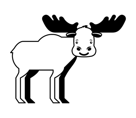 wild reindeer animal isolated icon vector illustration design Stockfoto - 103550947