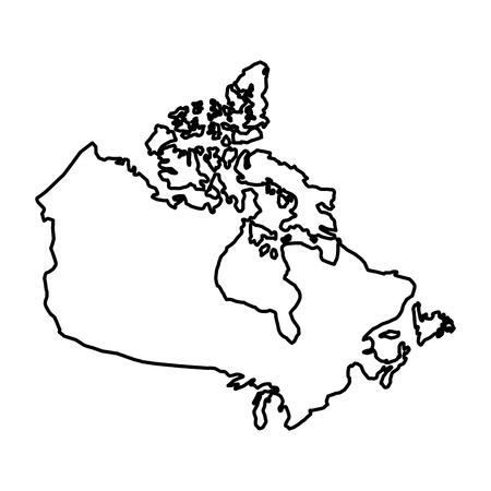 canada map silhouette isolated icon vector illustration design