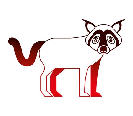 wolf beast creature animal image vector illustration neon