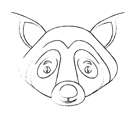 cute portrait head wolf wildlife vector illustration Stock Vector - 103552878