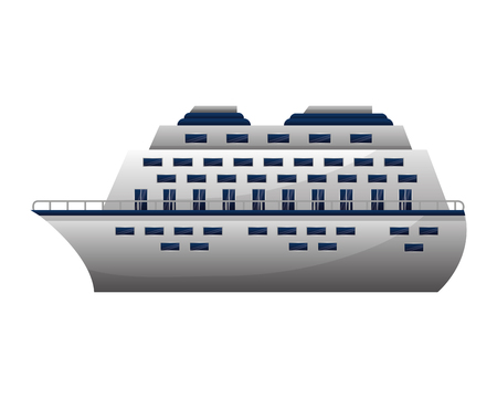 travel cruise ship vacation transport vector illustration