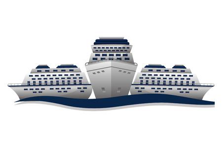travel cruises ship world vacation vector illustration Stock Vector - 103553346