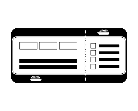 cruice travel ticket icon vector illustration design Illustration