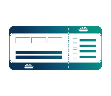 cruice travel ticket icon vector illustration design 向量圖像