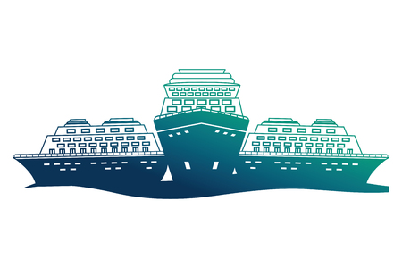 cruice ships isolated icon vector illustration design