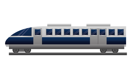 travel in train wagon transport vector illustration