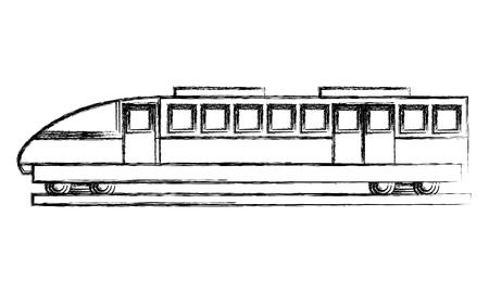 travel in train wagon transport vector illustration sketch
