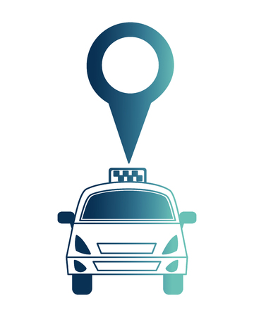 taxi car service with pin location isolated icon vector illustration design Illusztráció
