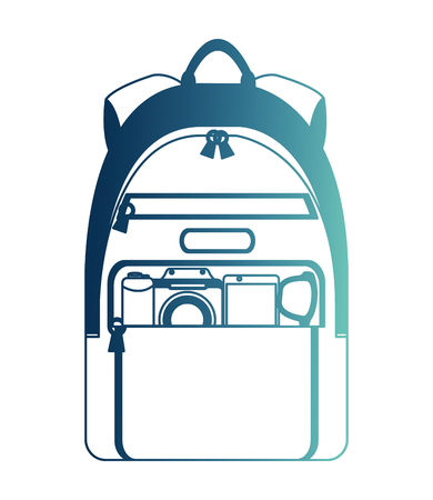 handbag travel with objects travel isolated icon vector illustration design Imagens - 103573025