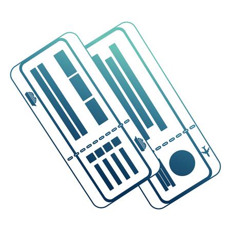 cruice travel tickets icon vector illustration design