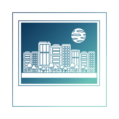cityscape with buildings and moon isolated icon vector illustration design Reklamní fotografie - 103573032
