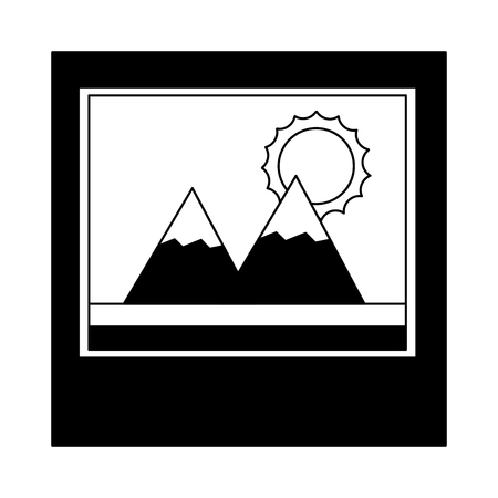 snowy mountain with cloud isolated iconsnowy mountains with sun isolated icon design